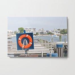 orange life saver Metal Print