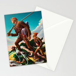 Classical Masterpiece 'The Kentuckian' by Thomas Hart Benton Stationery Cards