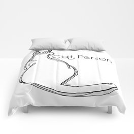 Cat person 1 Comforters