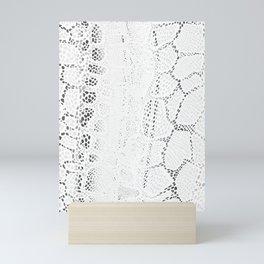 White Snake Skin Mini Art Print