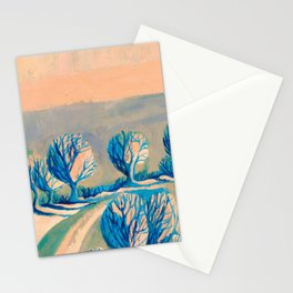 Lighted trees Stationery Cards
