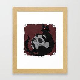 Friday The 13th Cat Framed Art Print