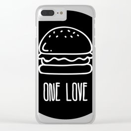 ONE LOVE, BURGER LOVE Clear iPhone Case