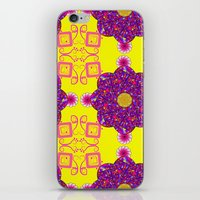 psychadelic iPhone & iPod Skins featuring Psychadelic Flora by Cynthia Squire