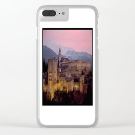 Alhambra at Sunset, Granada, Spain Clear iPhone Case