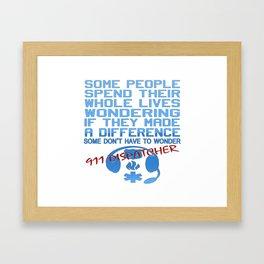 911 DISPATCHER Framed Art Print