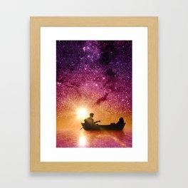 Serenade in the night Framed Art Print