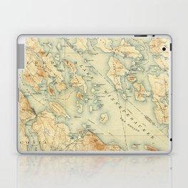 Vintage Map of Lake Winnipesaukee (1907) Laptop & iPad Skin