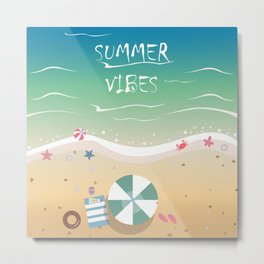 Summer Vibes Metal Print