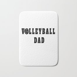 Volleyball Dad Quote Bath Mat