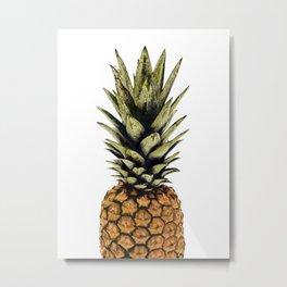 Pineapple print,tropical art,minimalist,modern art,palm print,pineapple decor Metal Print