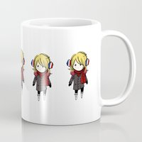 enjolras Mugs featuring winter enjolras by The Eggplant Market