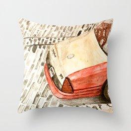 Taxicab in Baltimore Throw Pillow
