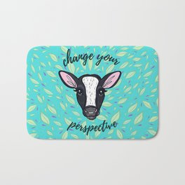 Change Your Perspective White Blaze Bath Mat