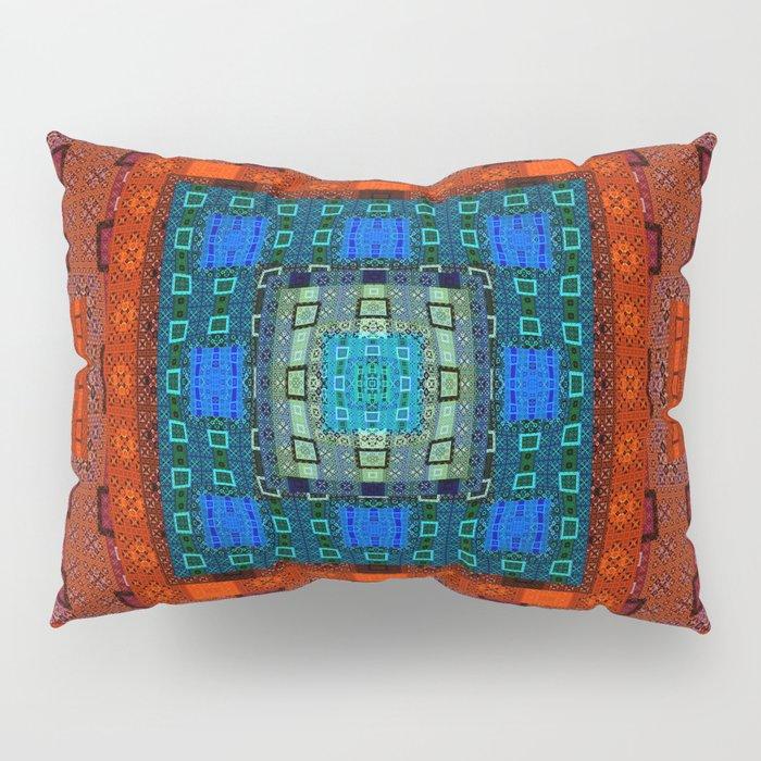 Deep Resonant Geometric Feng Shui Mandala Pillow Sham