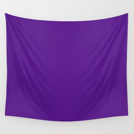 AUBERGINE Pure Purple solid color Wall Tapestry