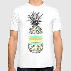 Sliced pineapple White MEDIUM Mens Fitted Tee