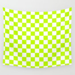 Checker (Lime/White) Wall Tapestry