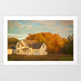 A House In The Fall Art Print