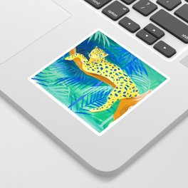 Leopard on Tree Sticker