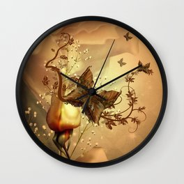 Wonderful fantasy butterflies Wall Clock