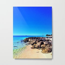 Bahamas Beach Metal Print