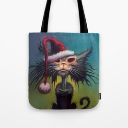 Zombie Cat Christmas Tote Bag