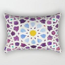 moroccan mosaic artwork Rectangular Pillow