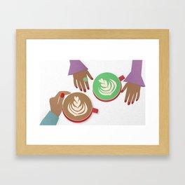 Latte Conversations Framed Art Print