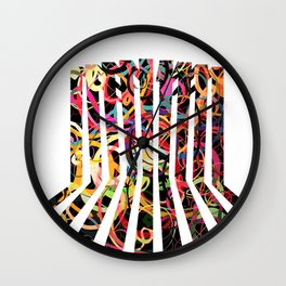 Graphic design six by Leslie Harlow Wall Clock