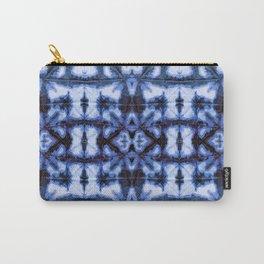 Blue Oxford Shibori Carry-All Pouch