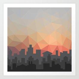 Sunset Cityscape Art Print