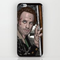 rick grimes iPhone & iPod Skins featuring Rick Grimes  Walking Dead by Kenneth Shinabery