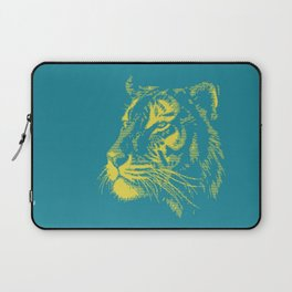 Majestic tiger blue and yellow Laptop Sleeve