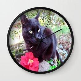 Luna charming black princess Wall Clock