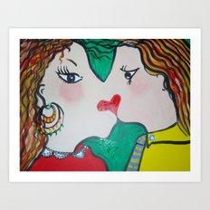 Valentine's kiss Art Print