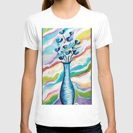 Modern Abstract Flowers T-shirt