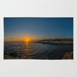Sea Caves Sunset Rug