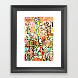 Paste Escapist Framed Art Print