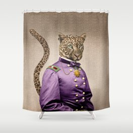 Grand Viceroy Leopold Leopard Shower Curtain