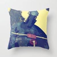 train Throw Pillows featuring train  by gzm_guvenc