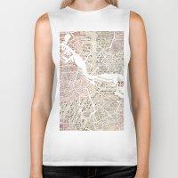 amsterdam Biker Tanks featuring Amsterdam by Mapsland