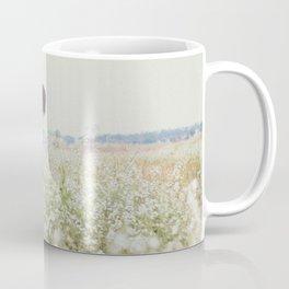 Man - Flowers - Field - Photography Coffee Mug