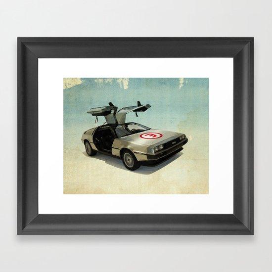 Number 3 - DeLorean Framed Art Print