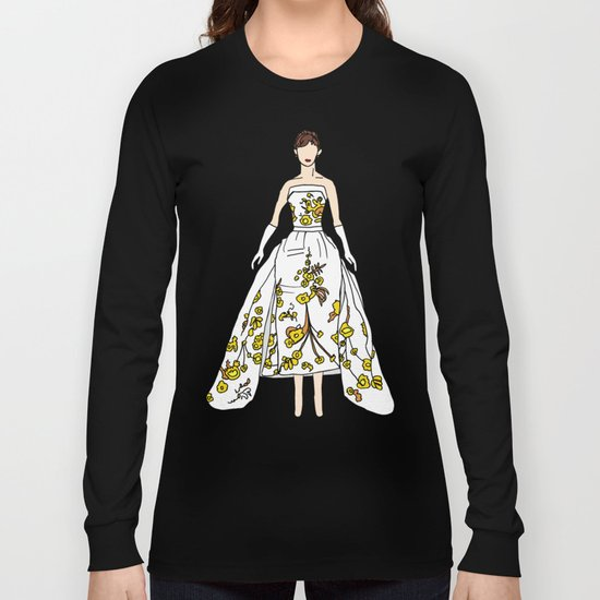 Audrey Hepburn Vintage Retro Fashion 2 Long Sleeve T-shirt