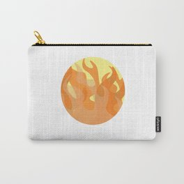 Pastel Flames Carry-All Pouch