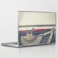 typewriter Laptop & iPad Skins featuring typewriter by Sara Cuadrado