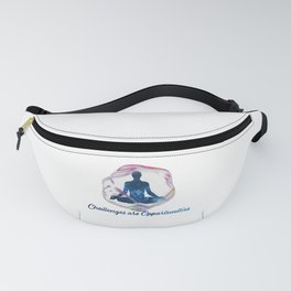 Challenges are Opportunities Male Fanny Pack