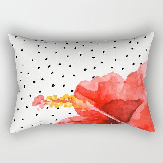 Tropical flower on dots Rectangular Pillow