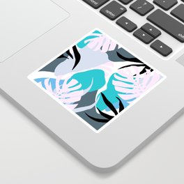 Tropical Abstract Organic Shapes Design Sticker